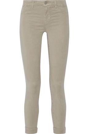 J BRAND Anja cropped sateen skinny pants