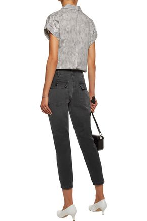 AMO Army Twist cropped cotton-canvas tapered pants