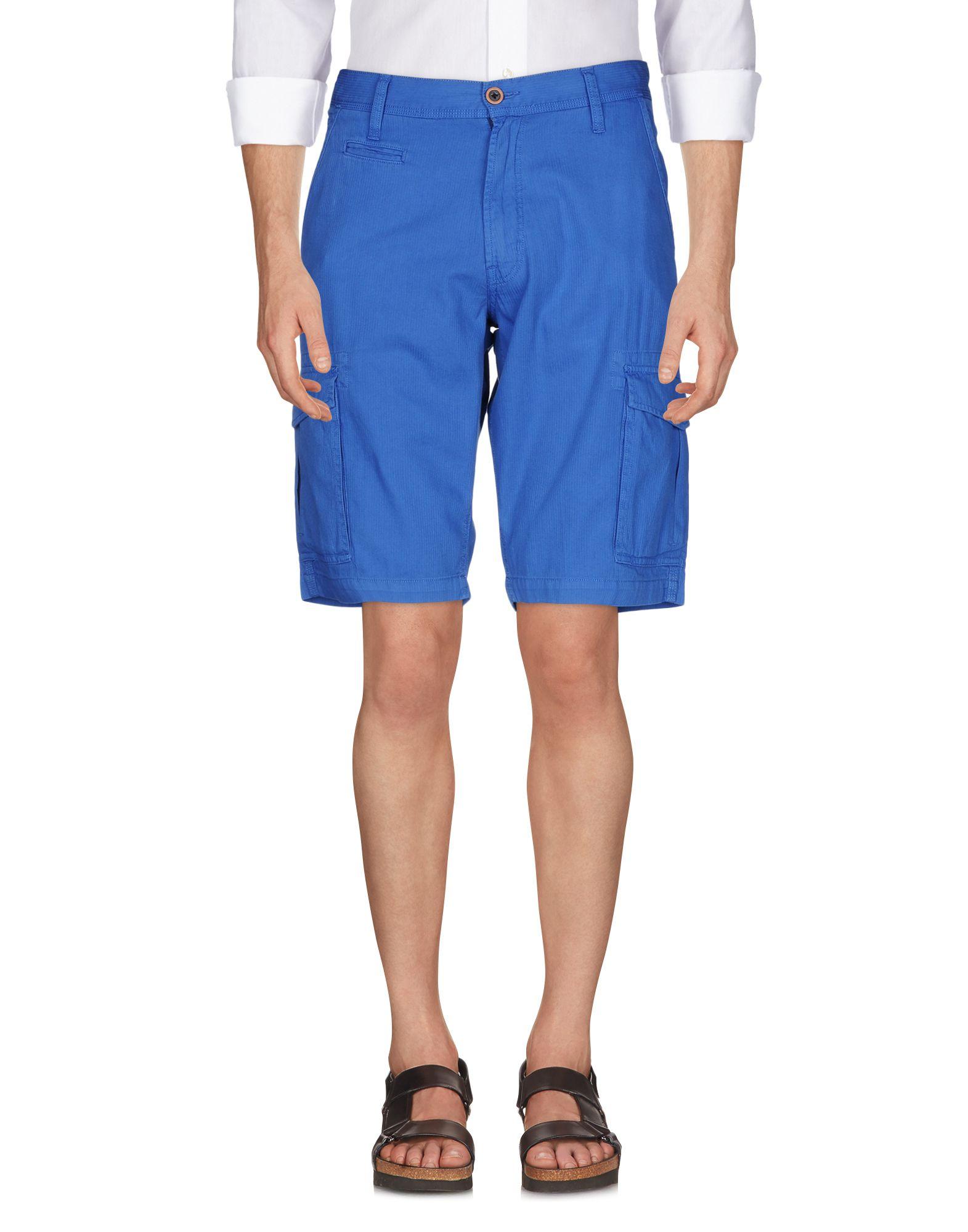 《セール開催中》WRANGLER メンズ バミューダパンツ ブルー 29 コットン 100%