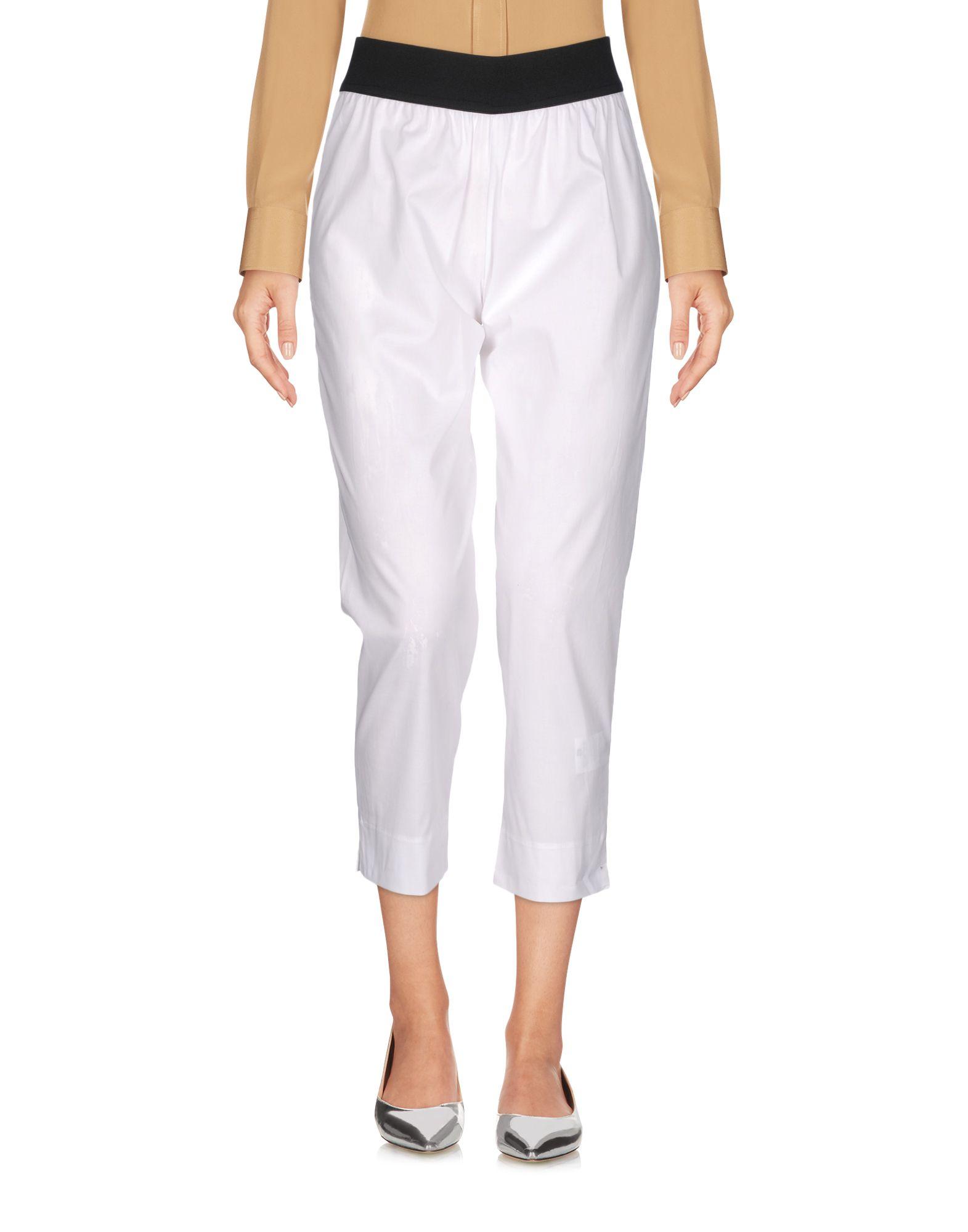MARIA CALDERARA Cropped Pants & Culottes in White