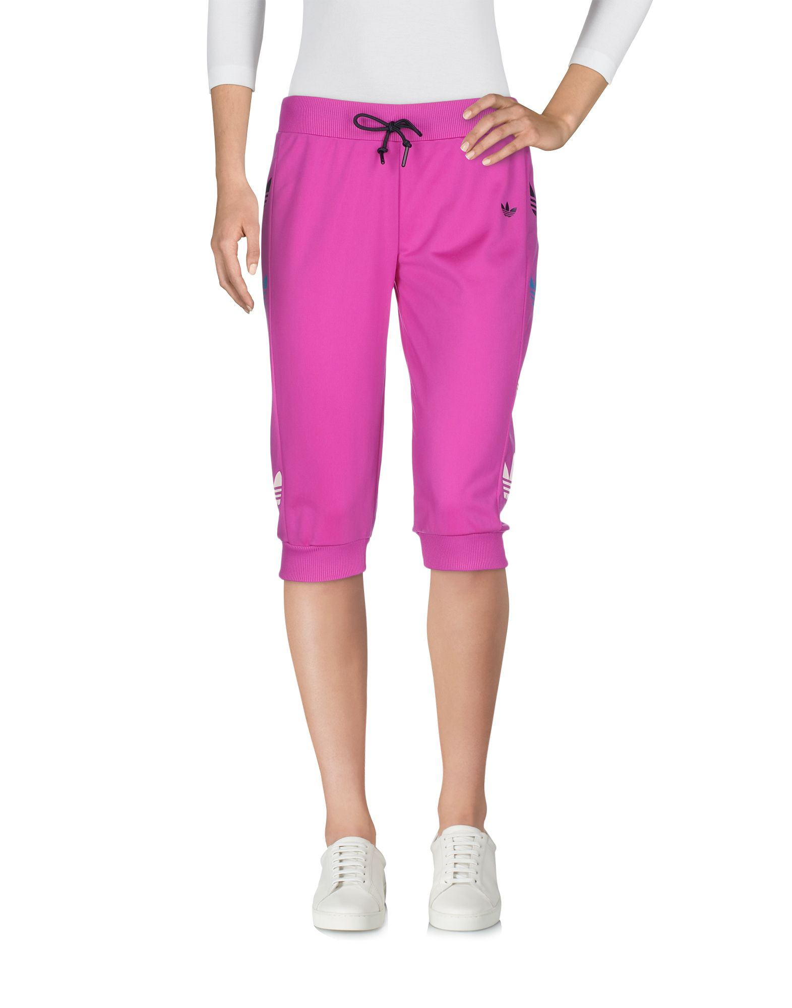 63e66a8ccb92 Adidas Originals Cropped Pants   Culottes In Purple