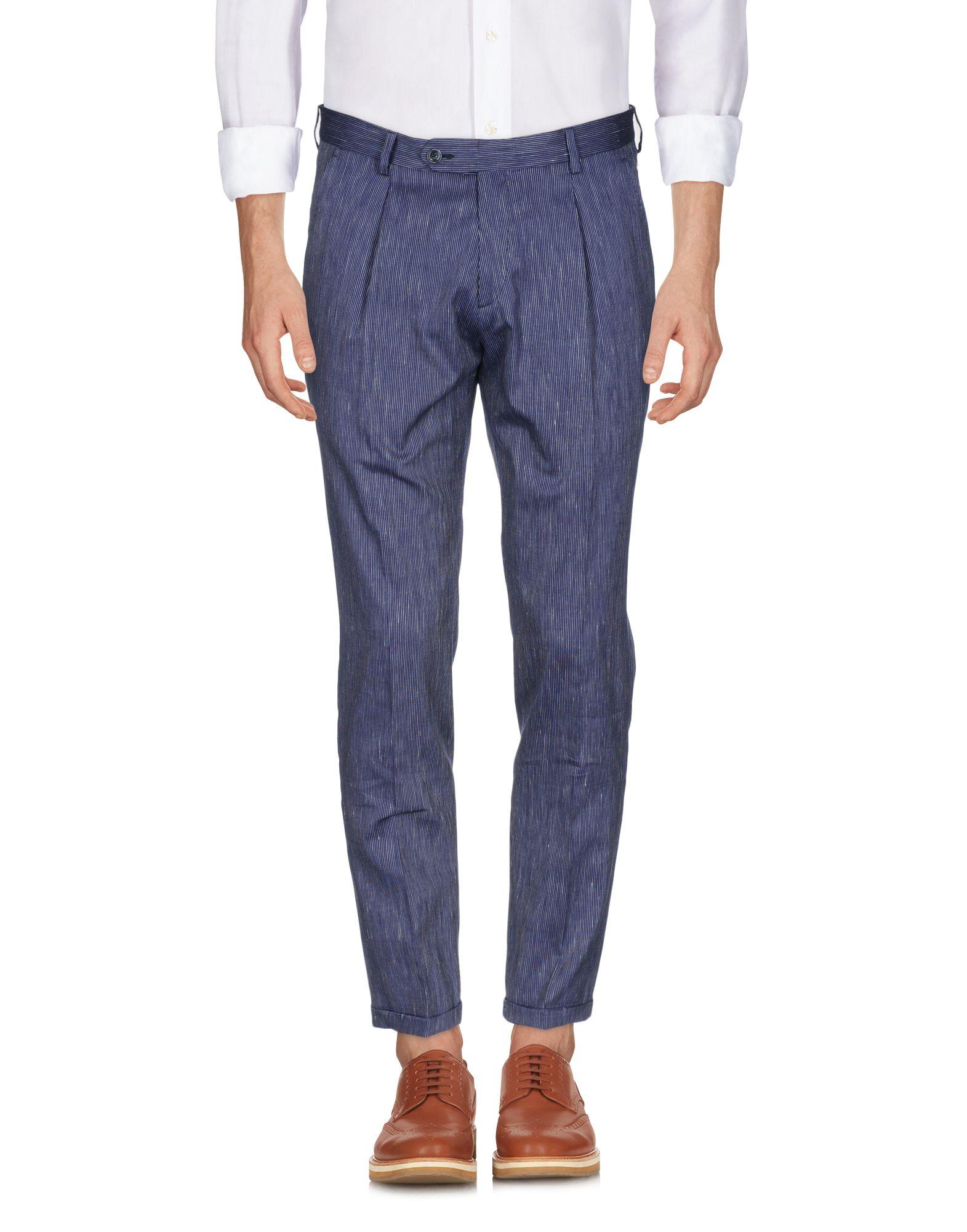 《期間限定 セール開催中》LABORATORI ITALIANI メンズ パンツ ダークブルー 46 コットン 90% / 麻 10%