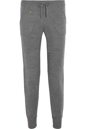 BELLA FREUD Embroidered wool track pants