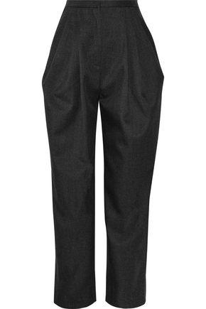 VIKA GAZINSKAYA Pleated wool-twill tapered pants