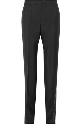 JIL SANDER Wool and mohair-blend crepe straight-leg pants