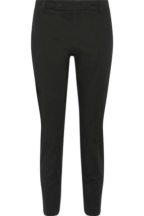 JIL SANDER Cotton-twill tapered pants