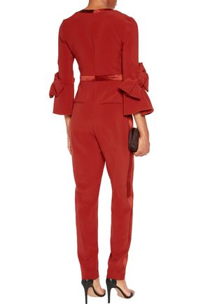 ROKSANDA Florent bow-embellished satin-trimmed cady jumpsuit