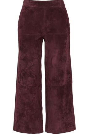 DEREK LAM Cropped suede wide-leg pants