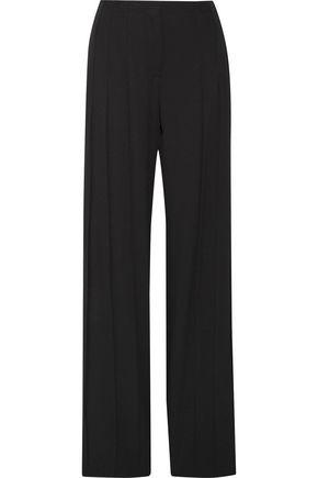 DEREK LAM Pleated crepe wide-leg pants