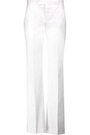 MAISON KITSUNÉ Oxford cotton-twill wide-leg pants