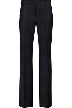 MAISON KITSUNÉ Polka-dot wool-twill wide-leg pants