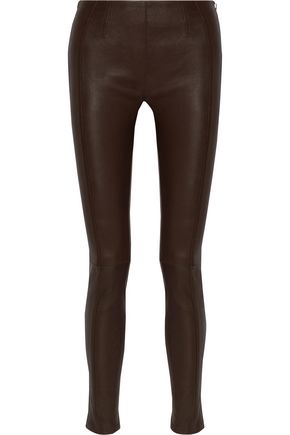 ROBERTO CAVALLI Stretch-leather skinny pants