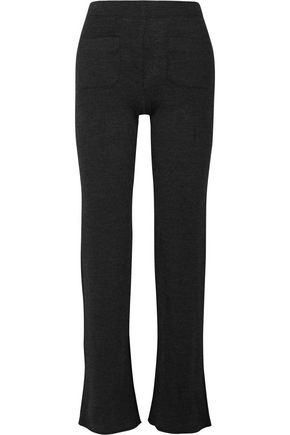 HELMUT LANG Ribbed wool-blend bootcut pants