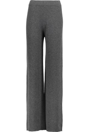 IRIS AND INK Winnie ribbed-knit cashmere wide-leg pants
