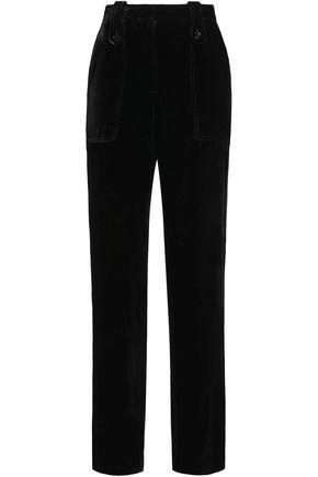 SANDRO Paris Velvet straight-leg pants