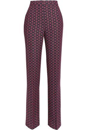 SANDRO Paris Printed twill wide-leg pants
