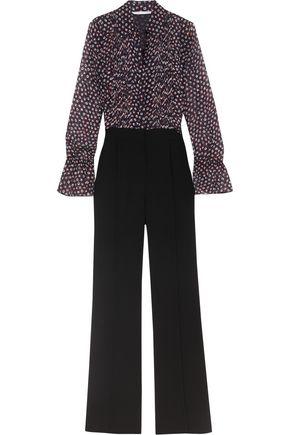 DIANE VON FURSTENBERG Ariella printed silk-georgette and crepe jumpsuit