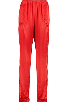 LANVIN Silk-satin tapered pants