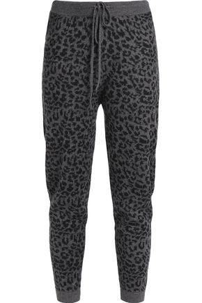 RTA Leopard-print cashmere track pants