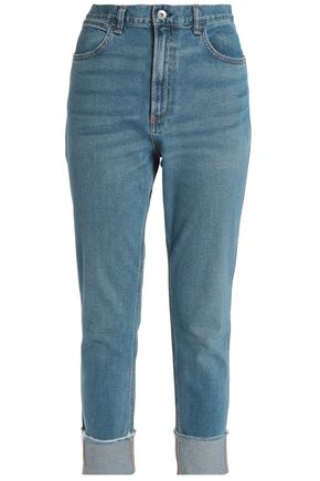 RAG & BONE/JEAN Faded mid-rise slim-leg jeans