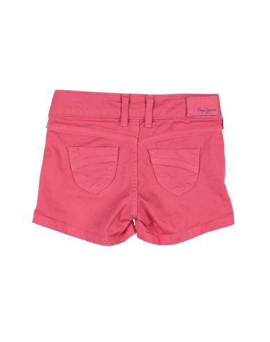 Фото 2 - Джинсовые шорты цвета фуксия