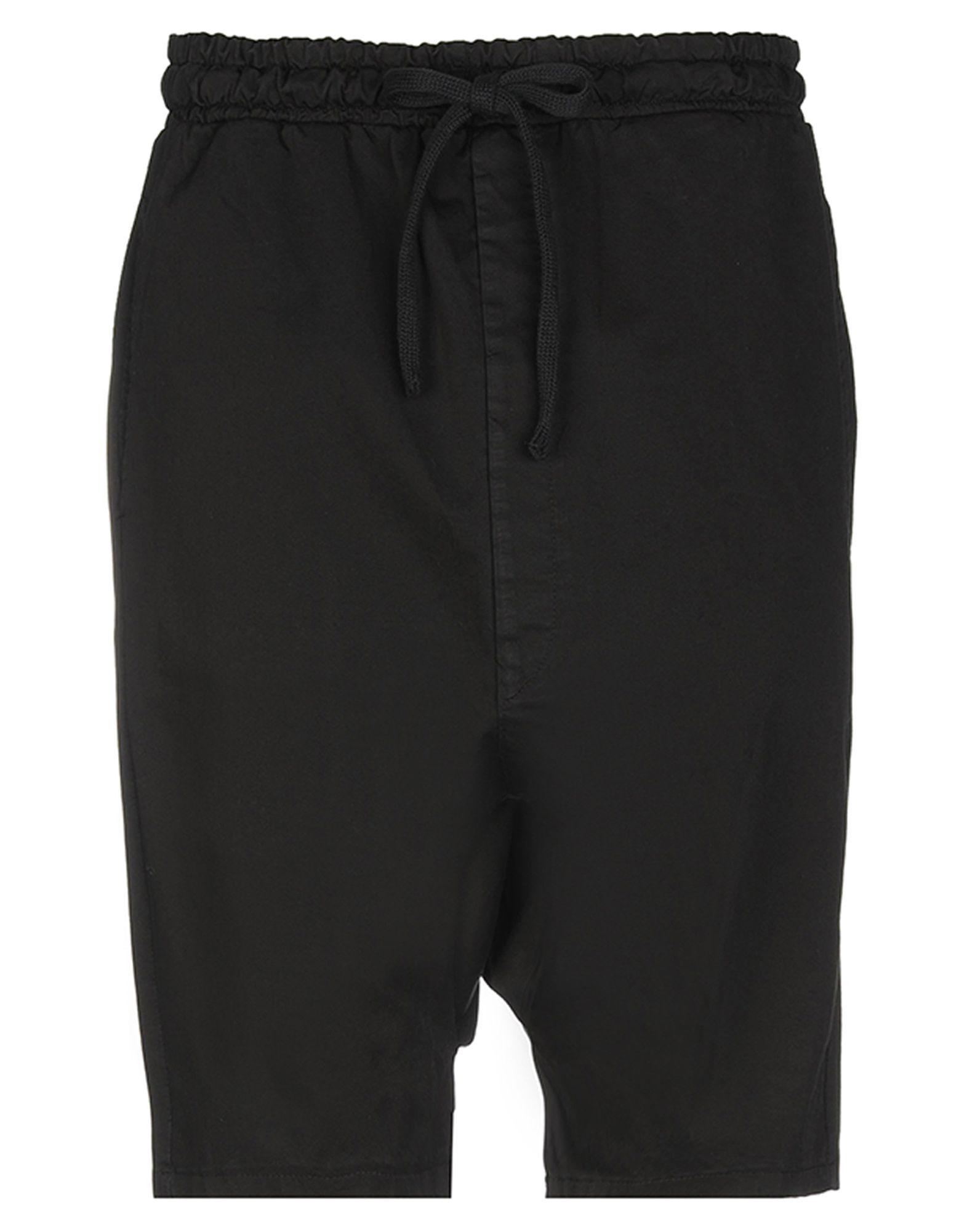 《セール開催中》DARK LABEL メンズ バミューダパンツ ブラック XL コットン 100%