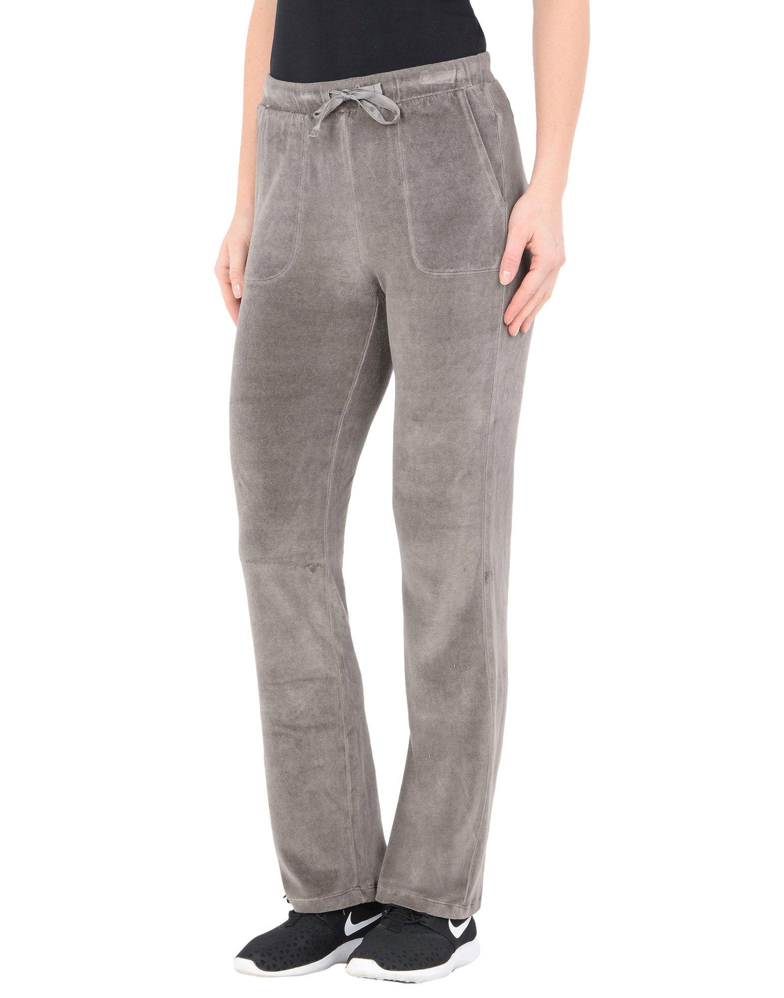 《送料無料》DEHA レディース パンツ グレー XS レーヨン 40% / コットン 40% / ナイロン 20% VELOUR STRAIGHT PANTS
