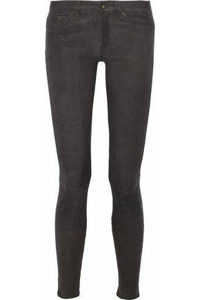 RAG & BONE/JEAN Paneled leather skinny pants