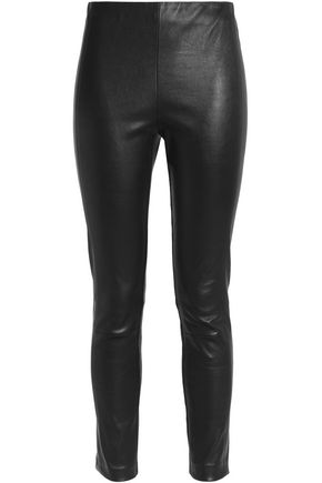 RAG & BONE Glossed leather leggings