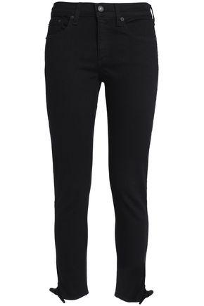 RAG & BONE/JEAN Cropped knotted mid-rise slim-leg jeans
