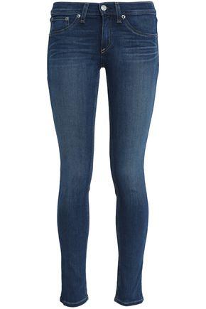 RAG & BONE/JEAN Faded mid-rise skinny jeans