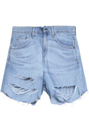 RAG & BONE/JEAN Distressed denim shorts