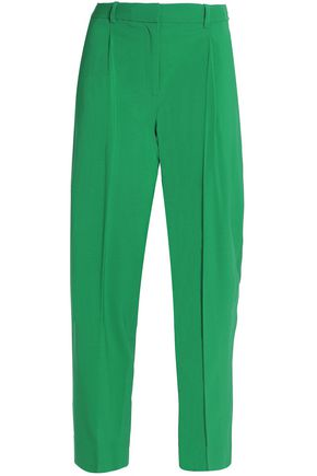 DIANE VON FURSTENBERG Cropped wool-blend tapered pants