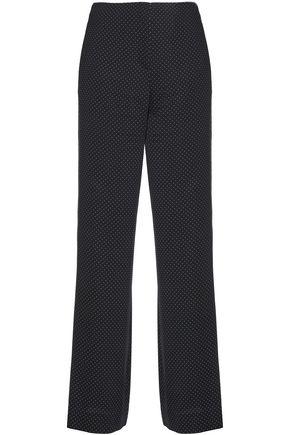 DIANE VON FURSTENBERG Printed silk-blend crepe wide-leg pants