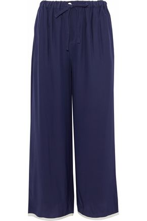 SLEEPY JONES Silk wide-leg pajama pants