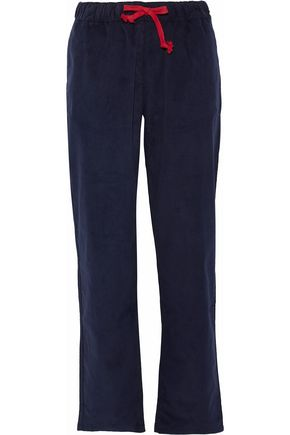 SLEEPY JONES Cotton-corduroy pajama pants