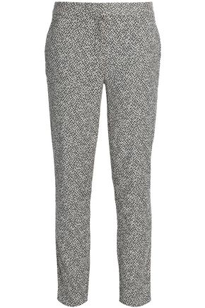 DIANE VON FURSTENBERG Cotton-blend jacquard tapered pants