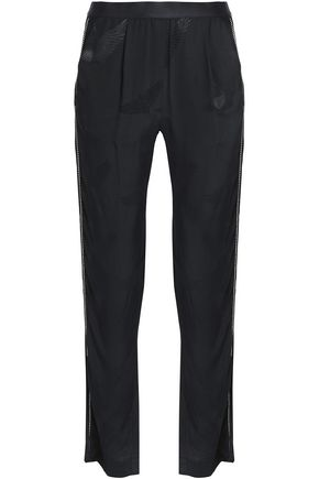 SANDRO Jacquard tapered pants
