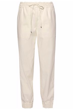 THEORY Stretch-cotton track pants