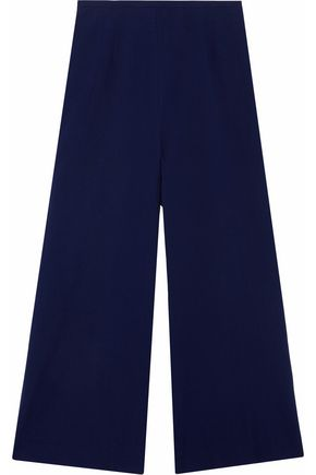 SOLID & STRIPED Cotton-seersucker culottes