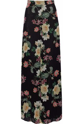 NICHOLAS Floral-print silk-georgette wide-leg pants