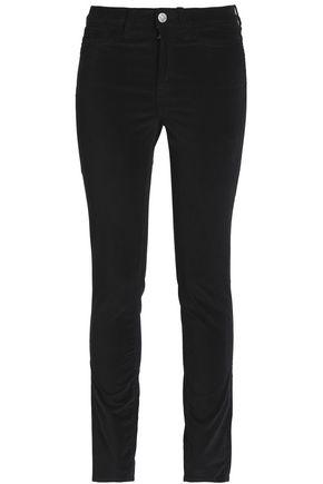 M.I.H JEANS Velvet mid-rise skinny jeans