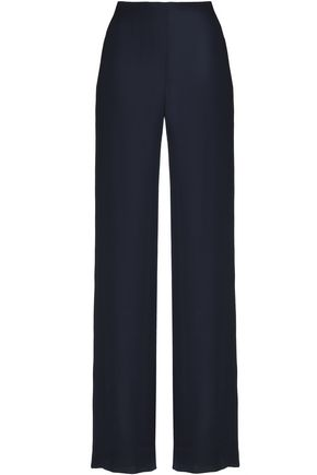 OSCAR DE LA RENTA Silk wide-leg pants