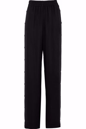 MAISON MARGIELA Button-detailed crepe wide-leg pants