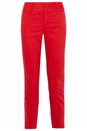 ALICE + OLIVIA Faille cotton-blend tapered pants
