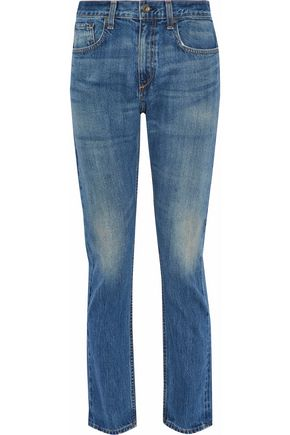 RAG & BONE Lucile faded mid-rise slim-leg jeans