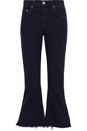 RAG & BONE/JEAN Frayed high-rise flared jeans