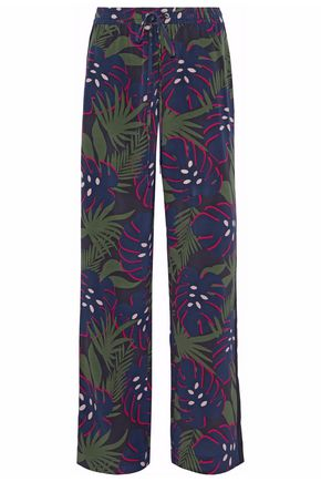 MARKUS LUPFER Printed silk straight-leg pants