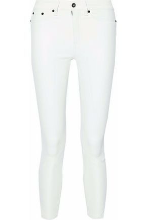 RAG & BONE/JEAN Cropped leather skinny pants