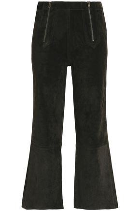 M.I.H JEANS Cropped suede flared pants
